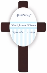 Blue Children's Baptism/Christening Cross