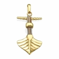 Boat Gold Plated Sterling Silver Christian Pendant - Jesus Boat Jewelry