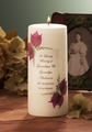 LEAF HEART MEMORIAL CANDLE w/ Swarovski Crystals
