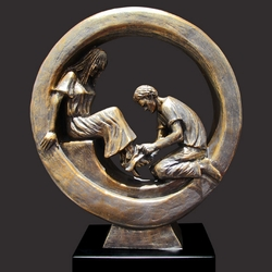 Bride And Groom Christian Sculpture by Timothy P. Schmalz