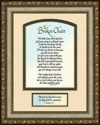 Broken Chain Poem Framed Bereavement Gift with Scripture