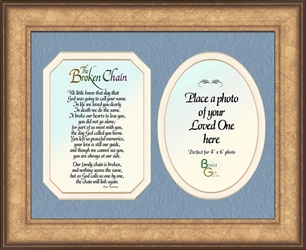 Broken Chain Poem Photo Framed Memorial Gift