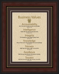Business Values Wall Decor - 4 Frames Available