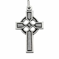 Celtic Sterling Silver Cross Necklace