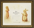 Certificate of First Communion Framed Christian Wall Decor