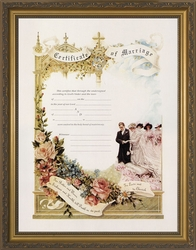 Certificate of Marriage Framed Christian Wall Decor