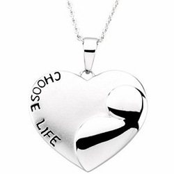 Choose Life Sterling Silver Pendant and Chain