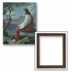 Christ Overlooking Jerusalem - Framed Christian Art - 2 Frame Options