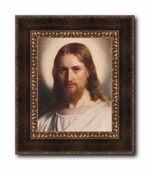 Christ With Nimbus by Carl Bloch - Framed Christian Art