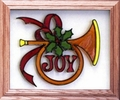 Christmas Joy/Holiday Horn Christmas Stained Glass Art