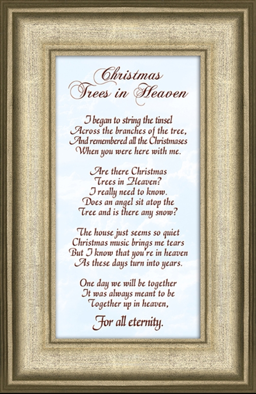 Christmas Trees In Heaven Christian Bereavement Poem | LordsArt