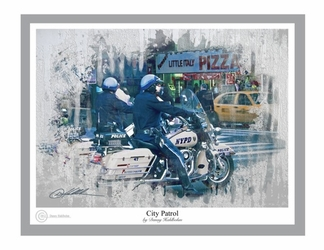 City Patrol by Danny Hahlbohm - Unframed Christian Art