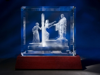 Come Unto Me Crystal (Large) by Jerry Anderson