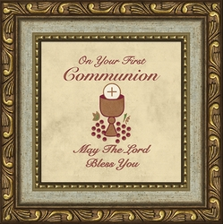 Communion Of Sacraments First Communion Framed Gift