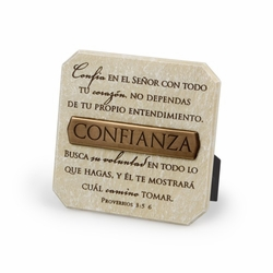 CONFIANZA (Trust) Spanish Plaque - Christian Home Decor