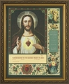 Consecration to the Sacred Heart Framed Catholic Wall Decor