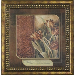Copper Tulips Trust in the Lord Floral Christian Art