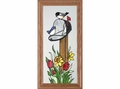 Country Mailbox Scene Stained Glass Art Panel