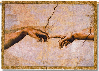 Creation of Man Genesis 2:7 Religious Tapestry Throw