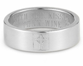 Cross Bible Verse Ring - White Gold