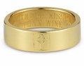 Cross Bible Verse Ring - Yellow Gold