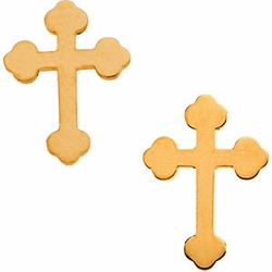 Cross Earrings 14k Gold