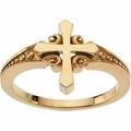 Cross Ring 14k Gold