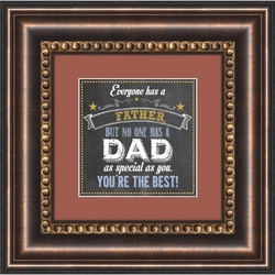 Dad - Framed Christian Tabletop Home Decor