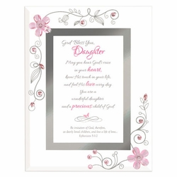 Daughter - Pink Framed Christian Tabletop Home Decor