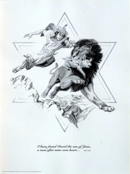 David and the Lion by Norbert McNulty - Unframed Christian Art