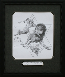 David and the Lion by Norbert McNulty - Framed Christian Art