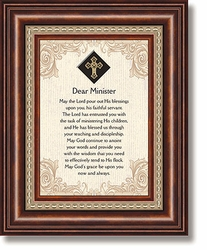 Dear Minister Framed Tabletop Christian Verse