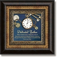 Dedicated Father Framed Table Clock - Christian Home Decor