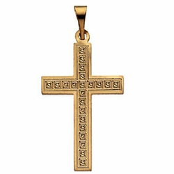 Design Cross Pendant 14k Yellow Gold