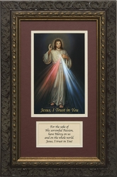 Divine Mercy with Prayer Framed