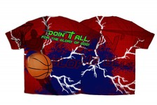 """Doin It All"" Basketball Graphic Poly T-Shirt"