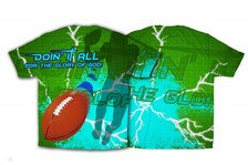 """Doin It All' Football Graphic Poly T-Shirt"