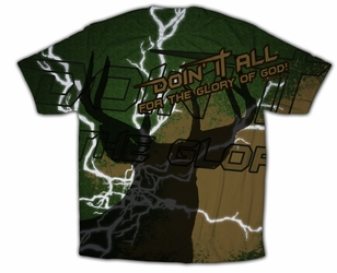 """Doin It All"" Hunting Graphic Poly T-Shirt"