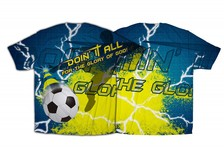 """""""Doin It All"""" Soccer Graphic Poly T-Shirt"""