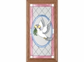 Dove of Peace Religious Stained Glass Panel