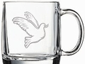 Dove Sand Etched Coffee Mug S/4