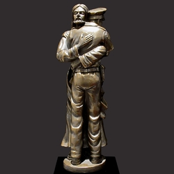 Officer Needs Help Christian Art Sculpture by Timothy P. Schmalz