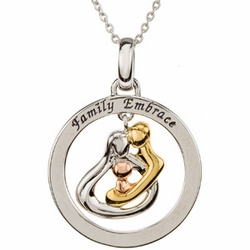 Embrace by the Heart ™ (Family) Embrace Circle Necklace