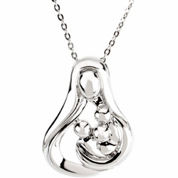 Embraced by the Heart™ (Mother) Necklace - Three Children