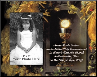 Eucharist & Chalice Plaque - Personalize & Insert Your Photo