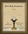 Eucharist with Chalice - First Communion Certificate