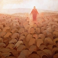 Every Knee Shall Bow Square Crop Version by J. Kirk Richards - 3 Selections Available