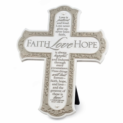 Faith, Hope and Love Cross - Christian Wall Decor