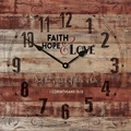 Faith, Hope & Love Clock
