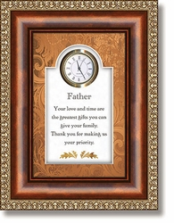 Father Clock With Verse - Christian Wall Decor
